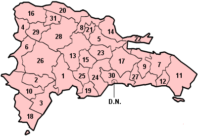 Provinces of the Dominican Republic.