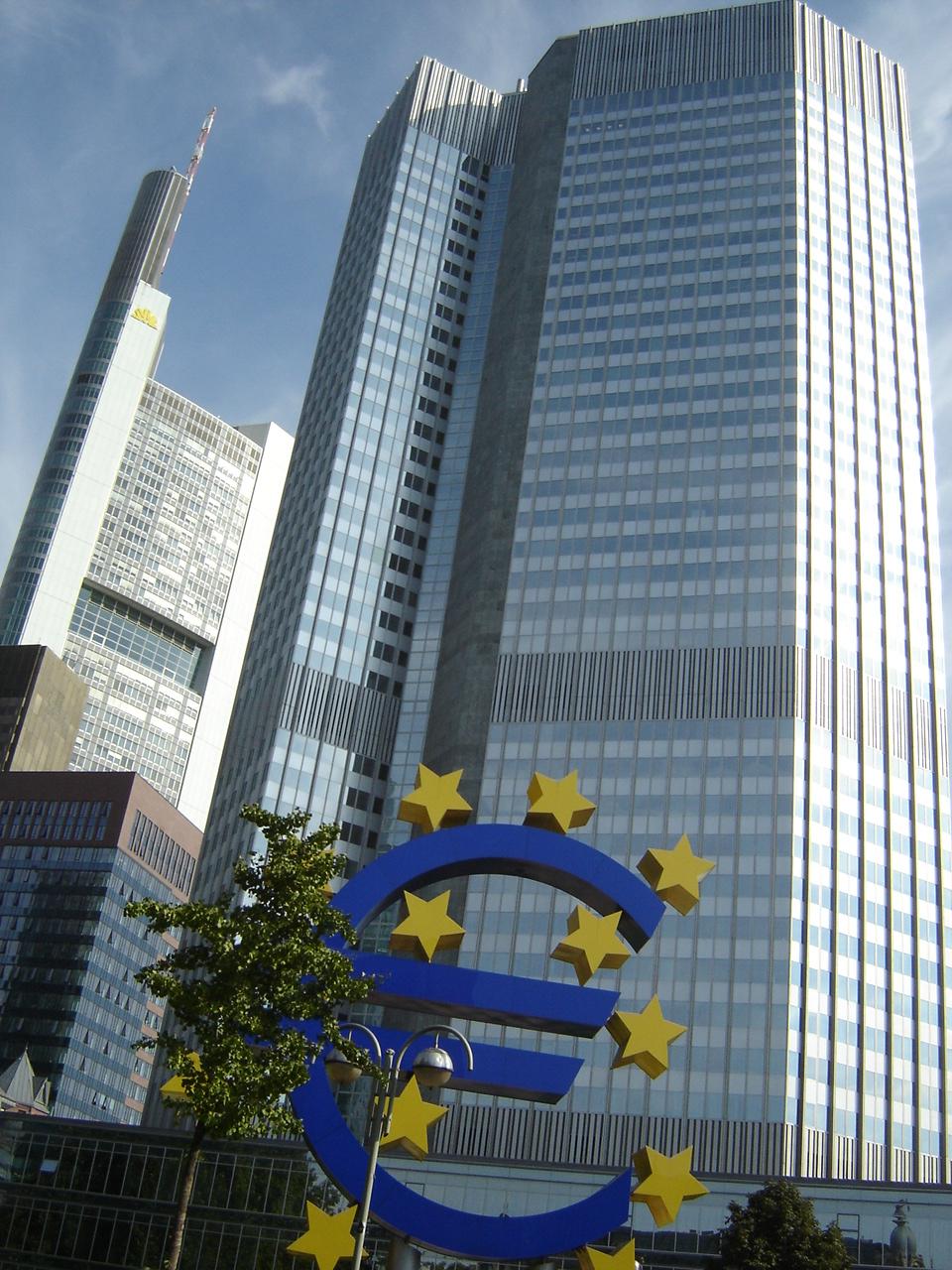 The European Central Bank building in Frankfurt