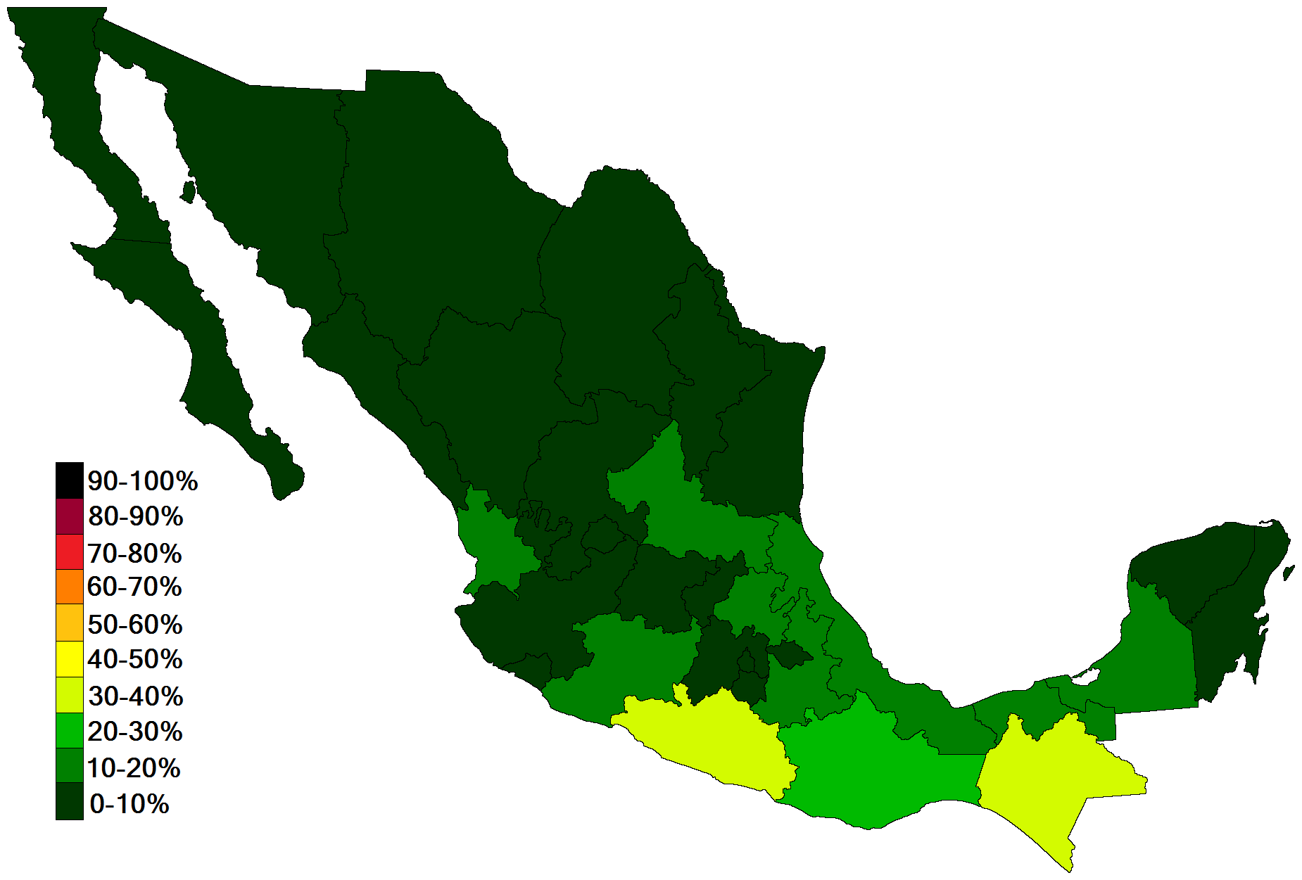 FileExtreme Poverty Percentages Of Mexico Png Wikimedia - Extreme poverty map