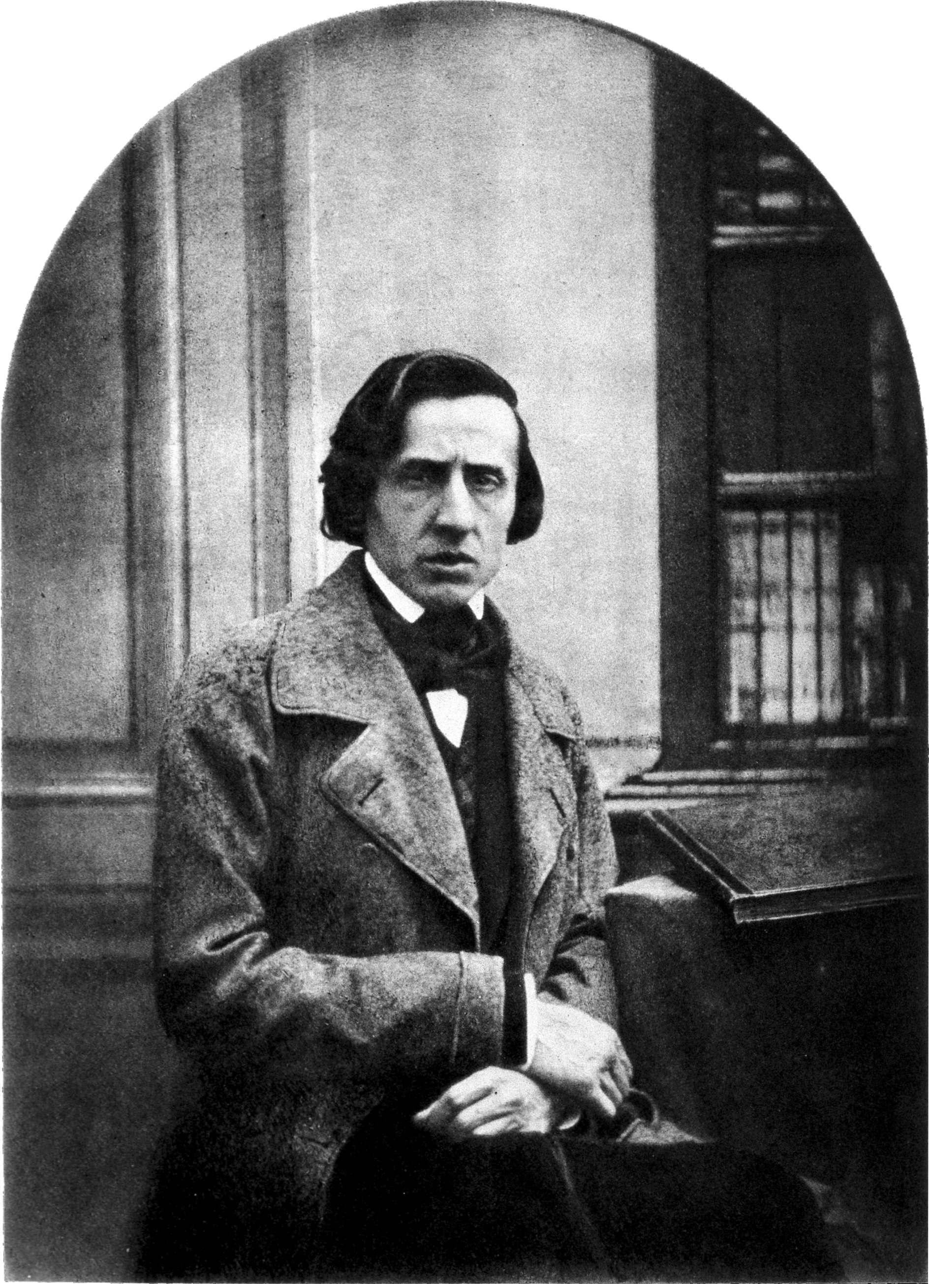 Frédéric Chopin, probably 1849, age 39. Daguerréotype by Louis-Auguste Bisson [1890 x 2613]