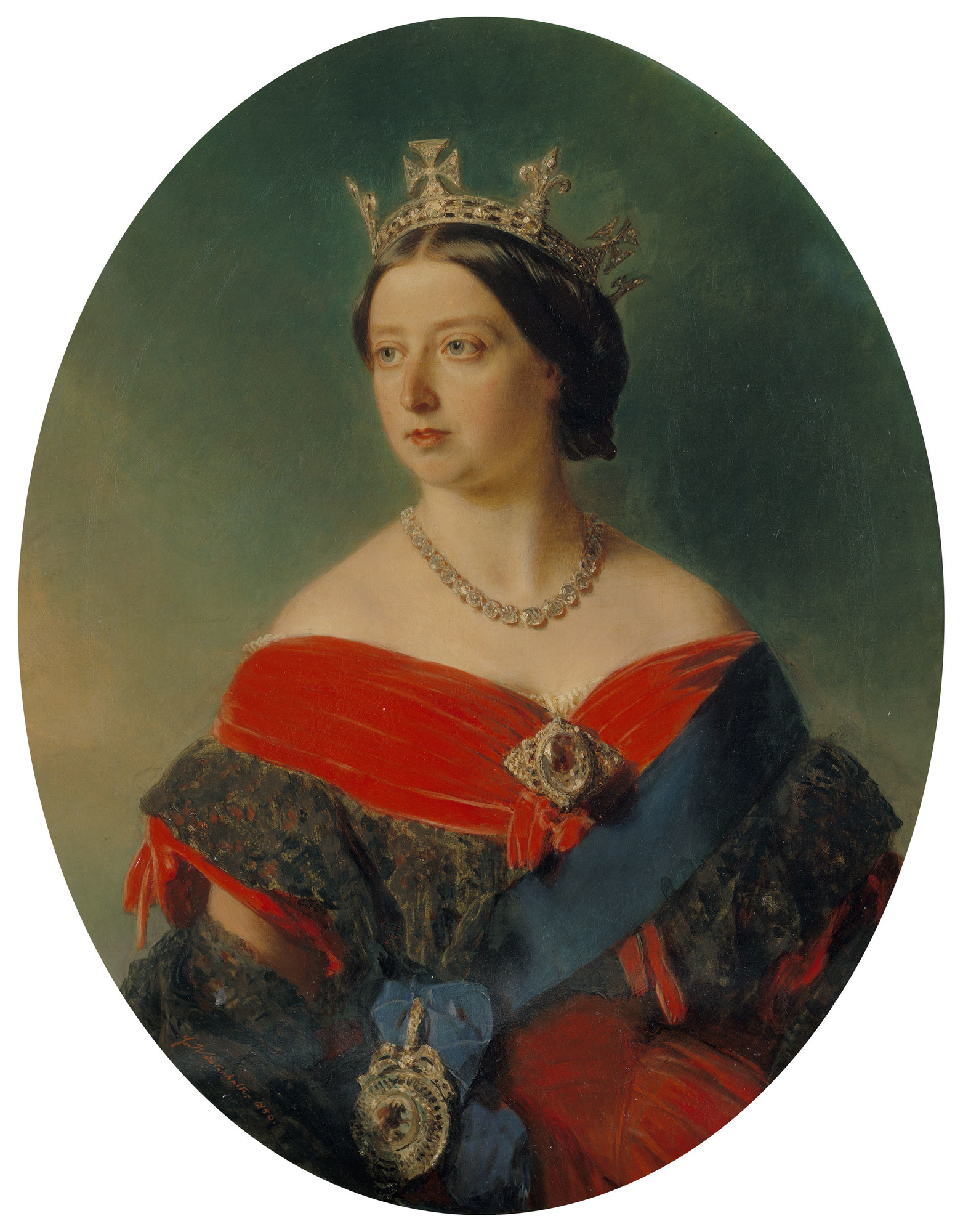 Królowa Wiktoria na obrazie F. X. Winterhaltera