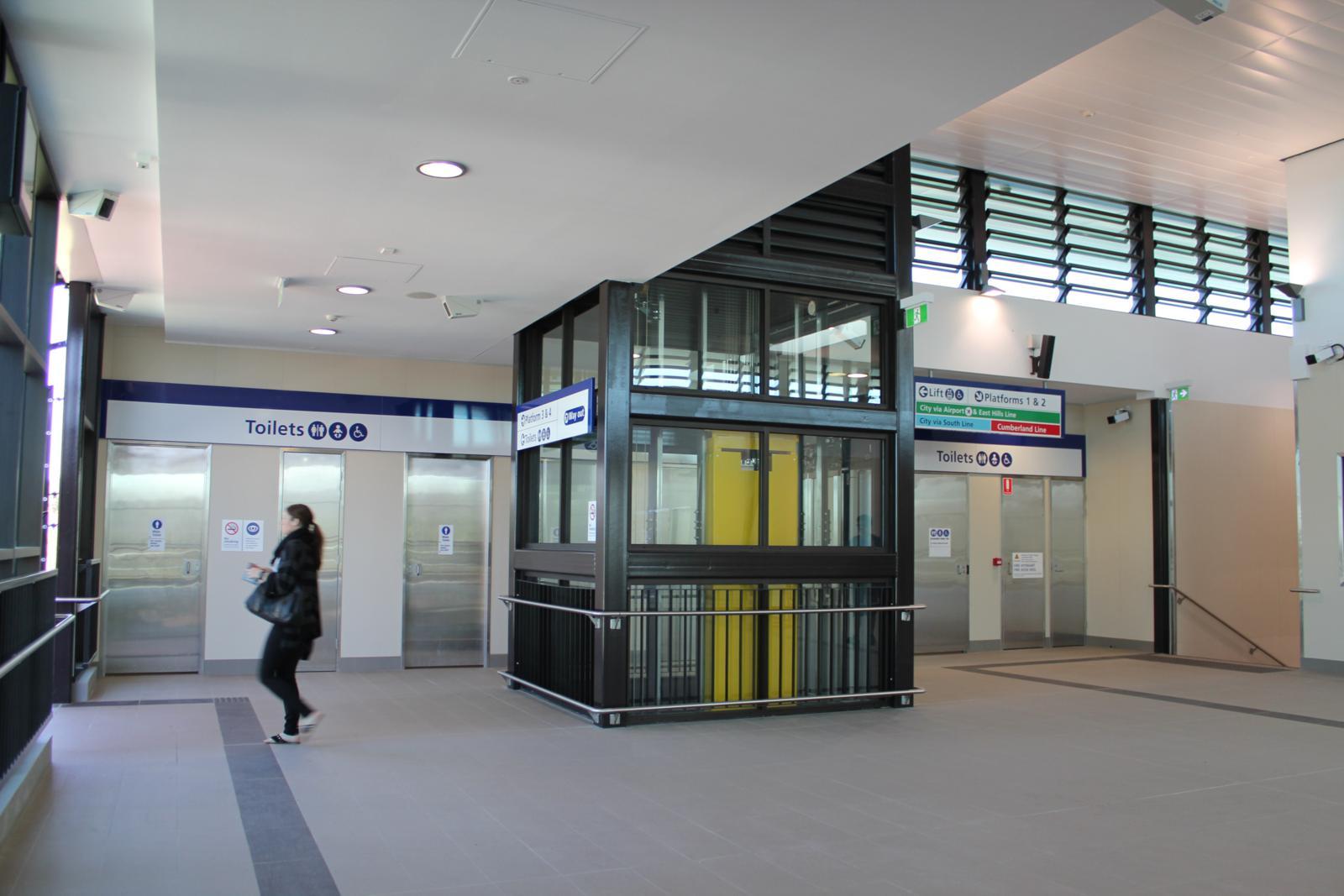 Railways station toilets