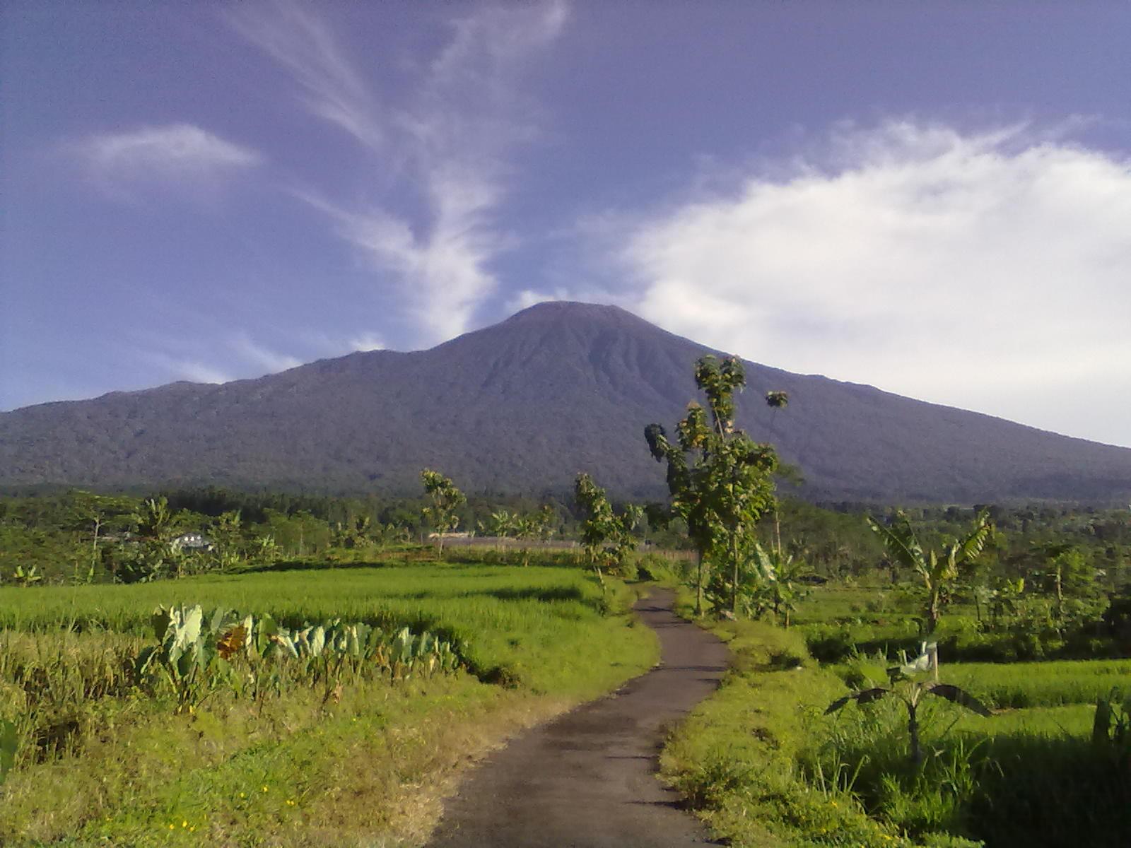 Gunung Slamet dari Kr Salam