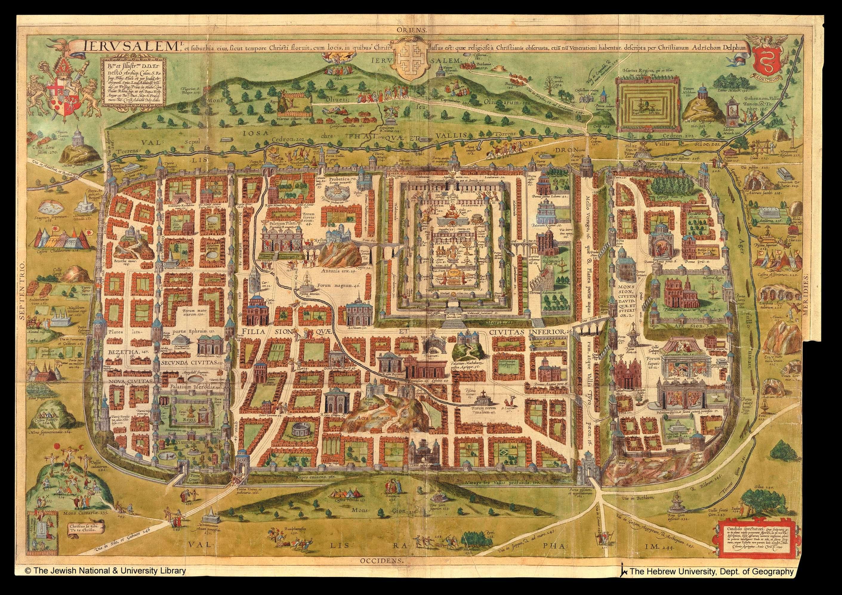 A map of Jerusalem, 1584