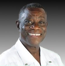 John Atta Mills, 2008 campaign poster Image: National Democratic Congress party of Ghana.