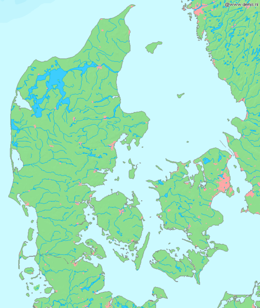 Map Of Northern Germany And Denmark.Atlas Of Denmark Wikimedia Commons
