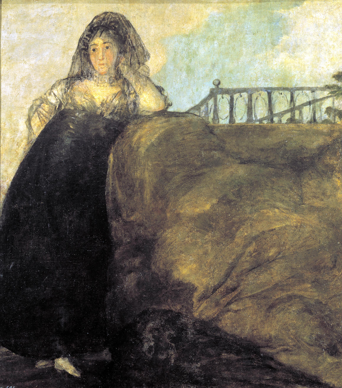 pinturas negras Una manola: Doña Leocadia Zorrilla