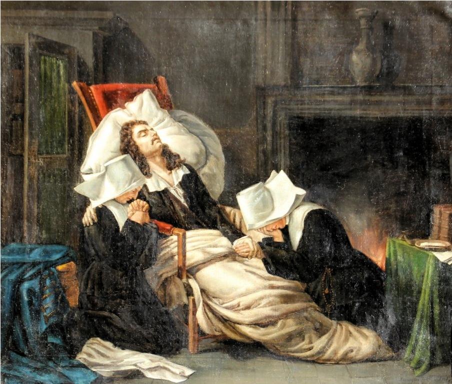 File la mort de moli re d 39 apr s le tableau peint en 1806 - Tableau tete de mort castorama ...