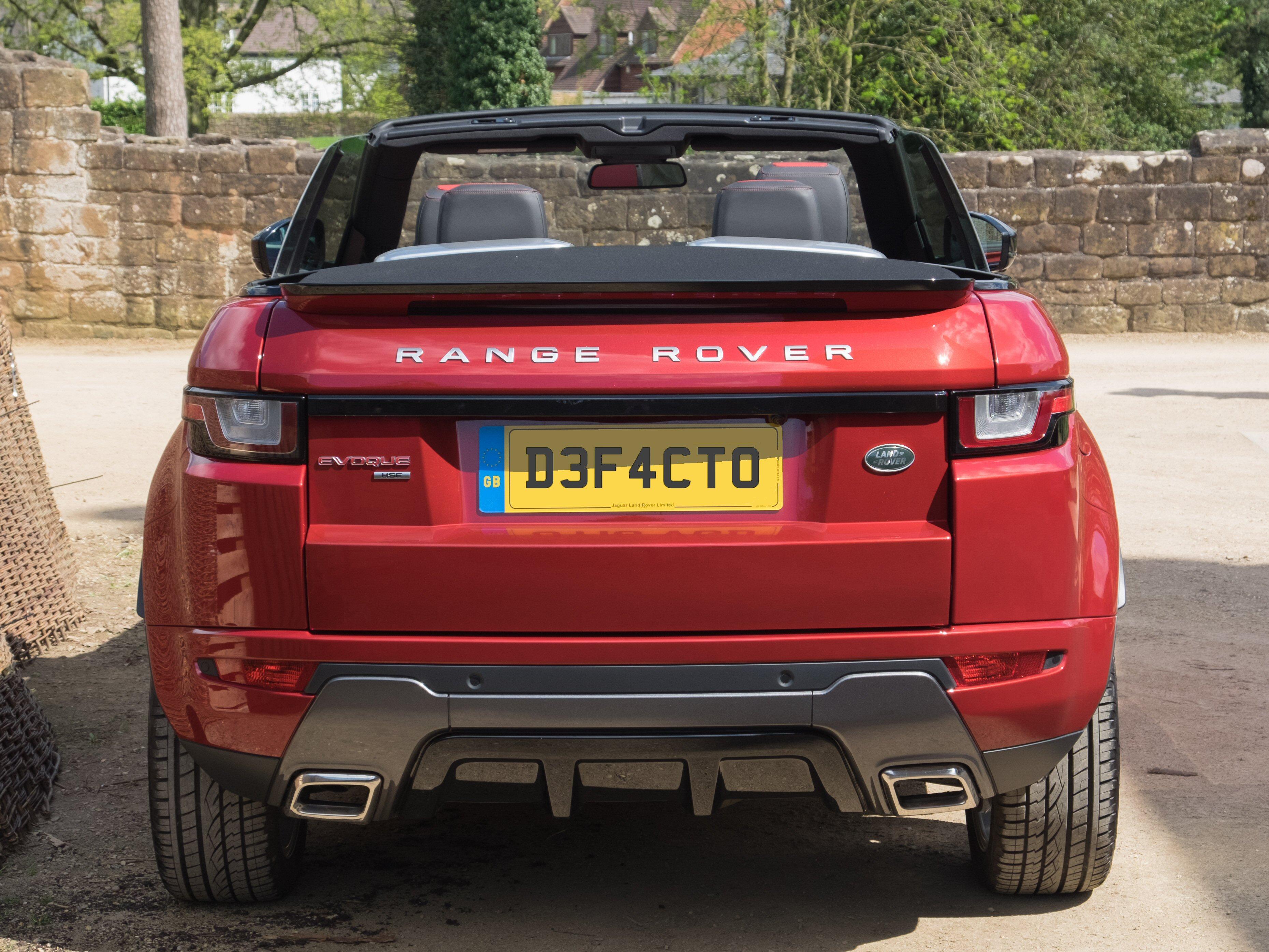 File Land Rover Range Rover Evoque Convertible 2016 Rear Jpg Wikimedia Commons