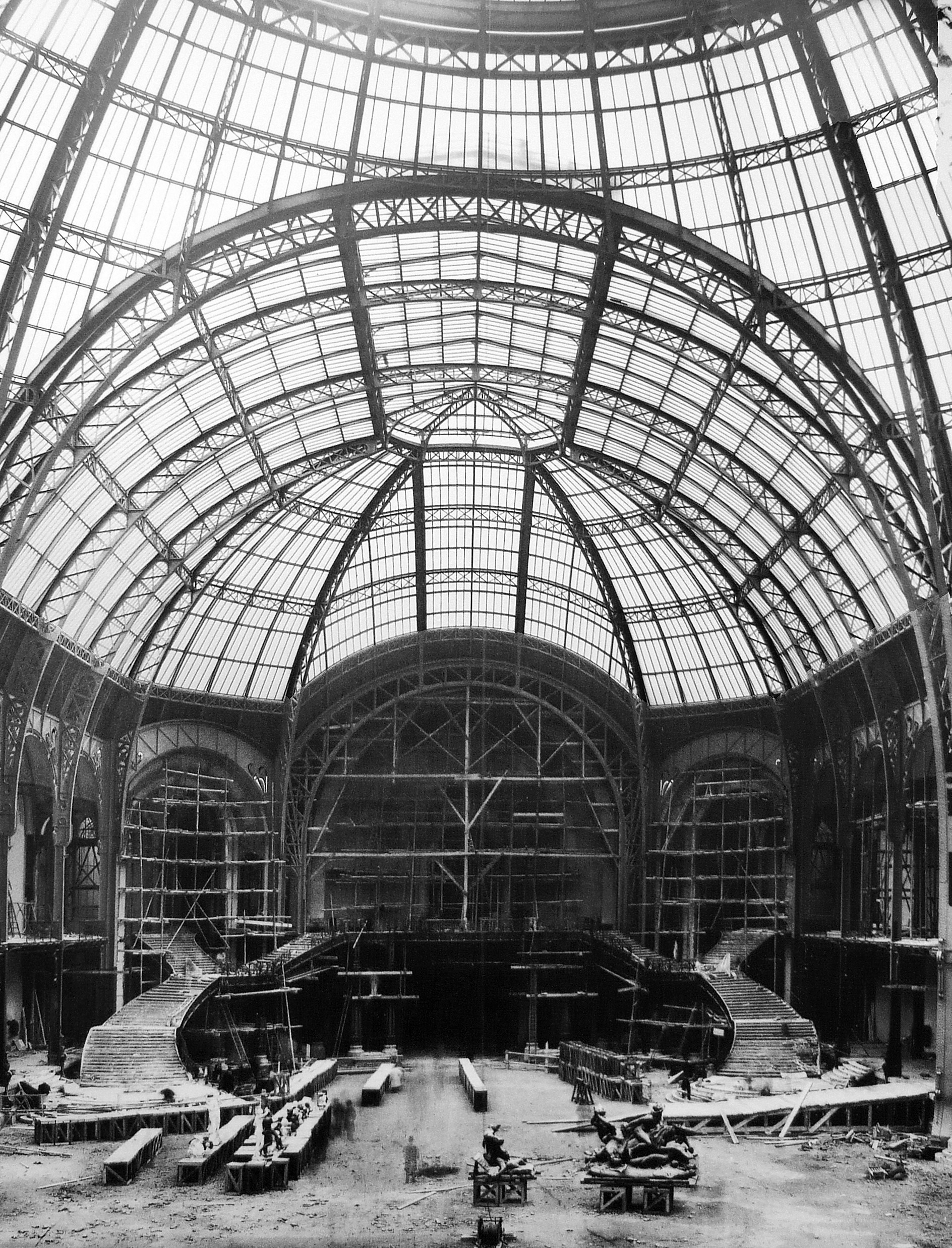 File le grand palais en construction jpg wikimedia commons - Exposition paris grand palais ...