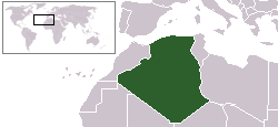 Location of Algeria