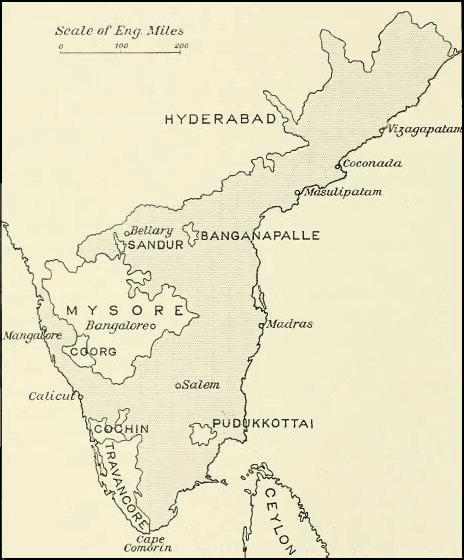 Location of Madras Presidency