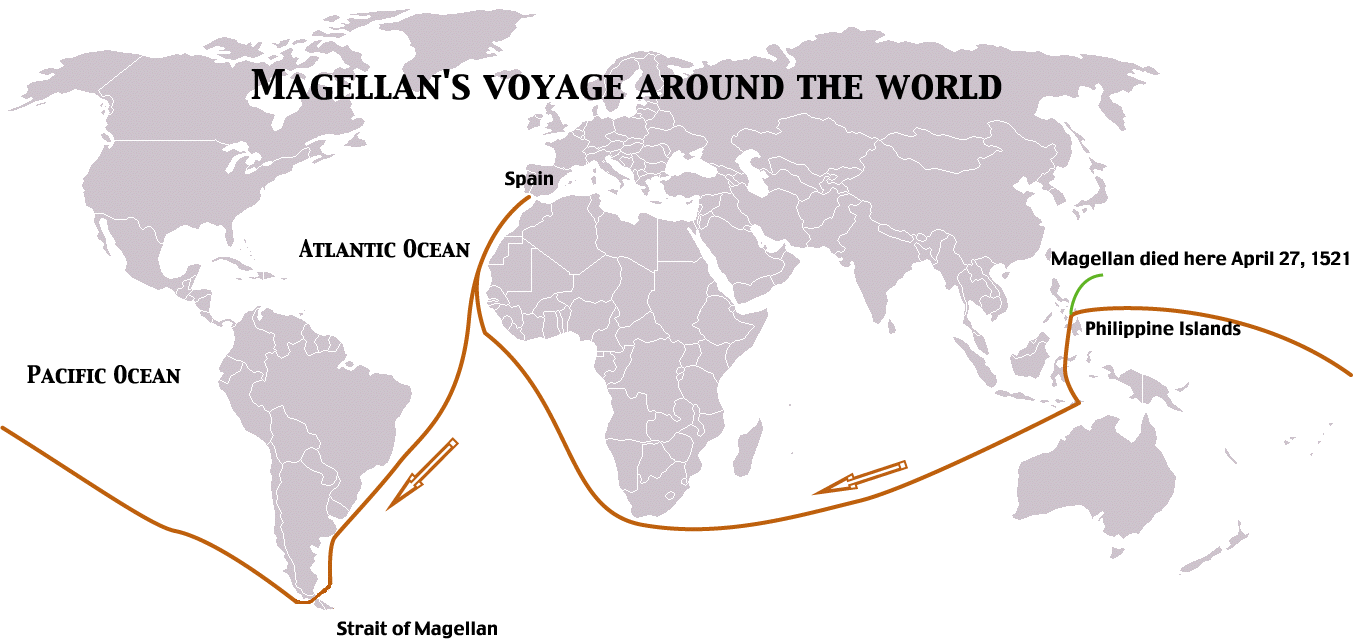 the life and voyage of ferdinand magellan Magellan also faced as much difficulties he brought five ships and120 menas they were sailing through the strait of magellan, oneship mutinied.