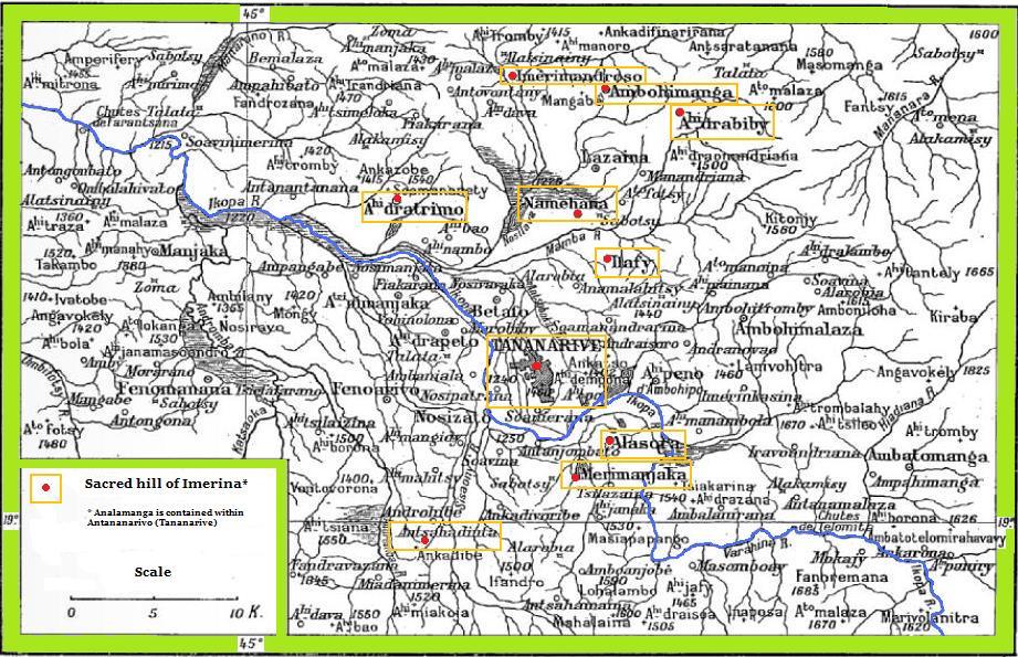 File:Map of sacred hills of Imerina Madagascar.jpg ... on sherbro island map, mbabane map, monrovia map, niamey map, cairo map, asmara map, kampala map, malabo map, masoala national park map, lilongwe map, pretoria map, casablanca map, harare map, kinshasa map, bujumbura map, maseru map, lagos map, dar es salaam map, johannesburg map, al hasakah map,