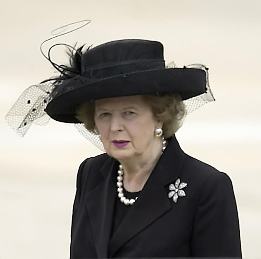 Margaret Thatcher, former prime minister of Gr...