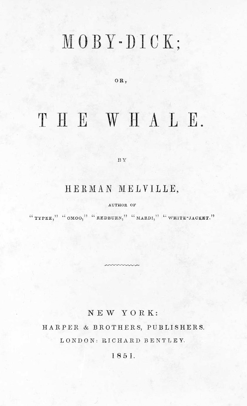 Title Page of First Edition of Moby-Dick
