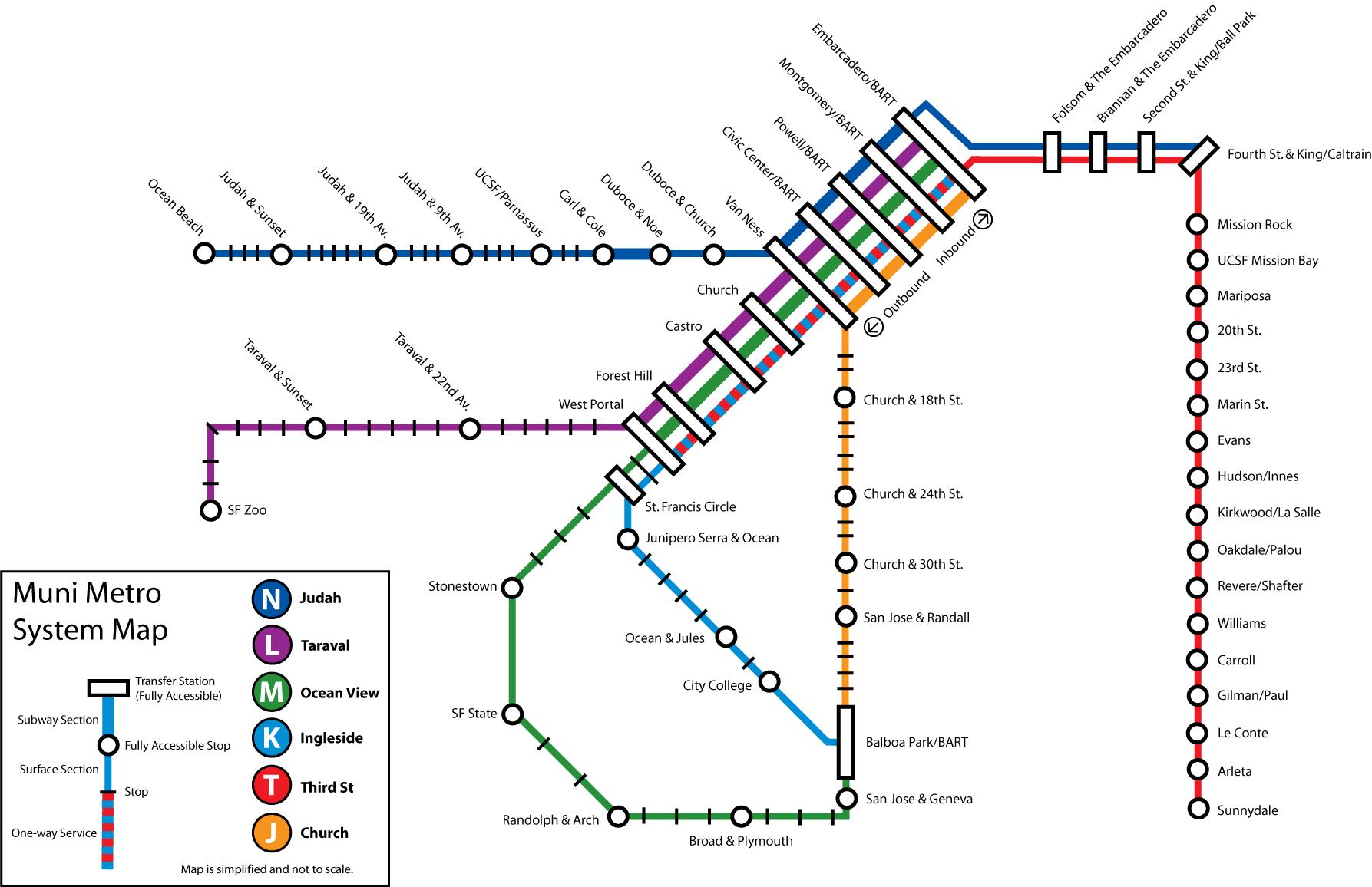 San Francisco Muni Metro Map.File Muni Metro Png Wikimedia Commons