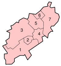 Distrikte in Northamptonshire