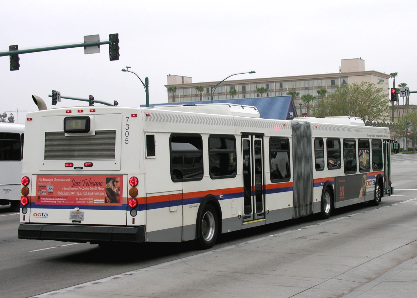 File:Orange County Transportation Authority articulated bus at ...