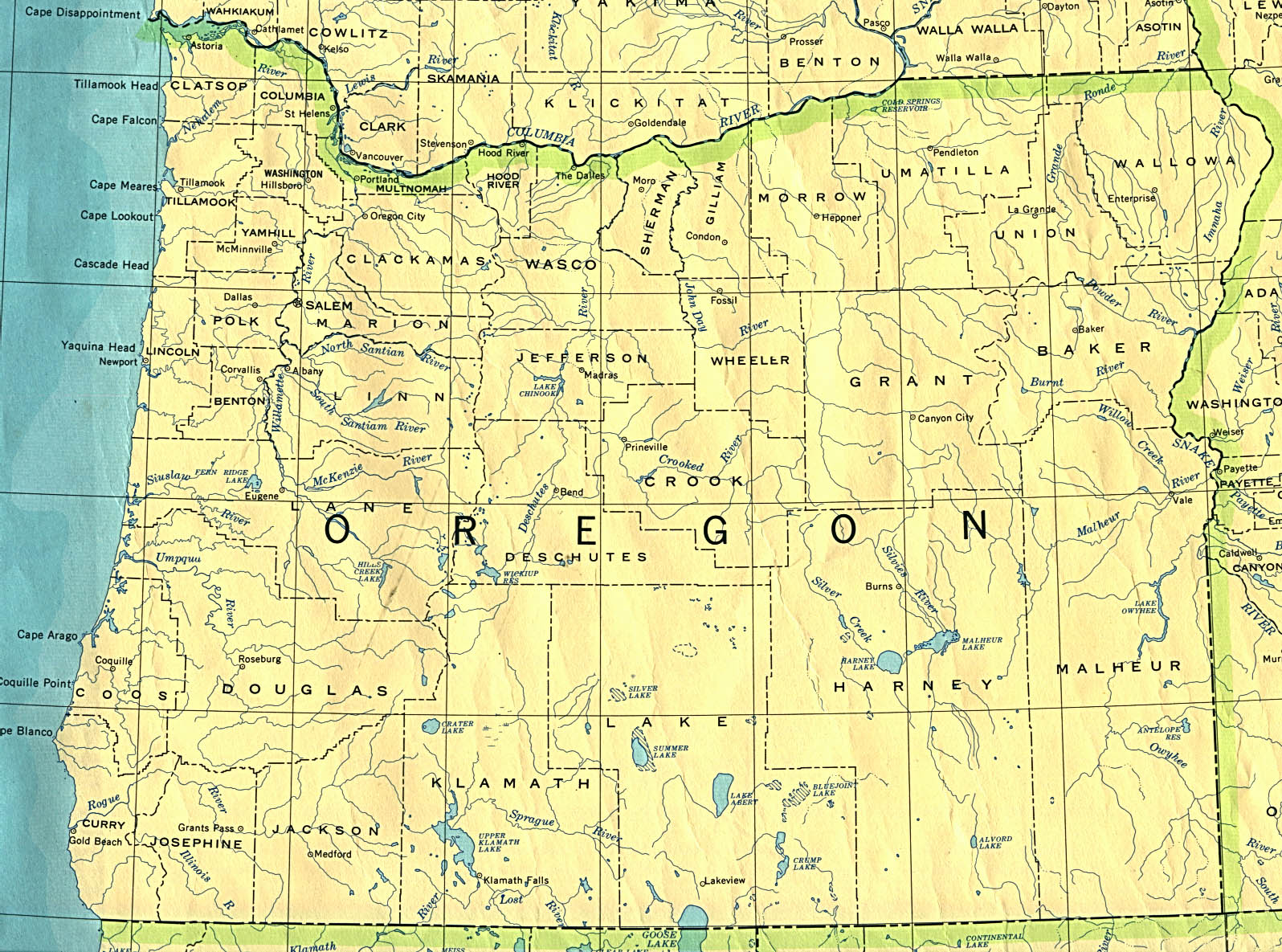 Map Of Or File:Oregon 90.   Wikimedia Commons Map Of Or