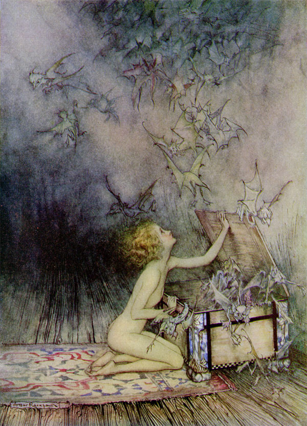 This image has an empty alt attribute; its file name is Pandora_by_Arthur_Rackham.jpg