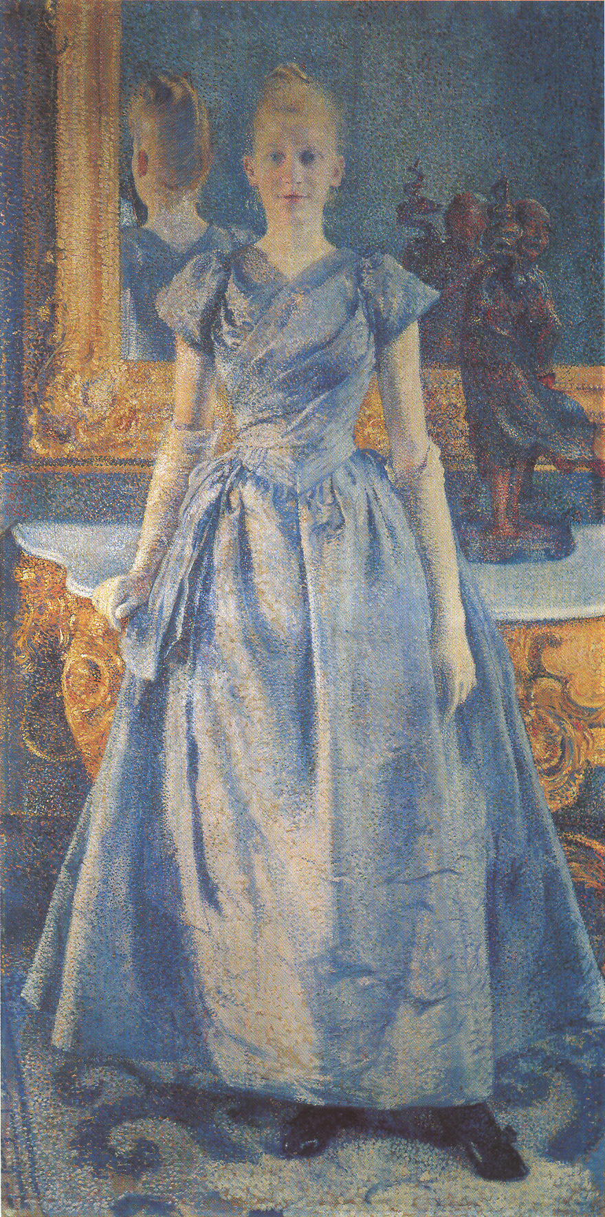 Theo van Rysselberghe, Portrait of Alice Sethe (1888), Musée départemental du Prieuré, Saint-Germain-en-Laye
