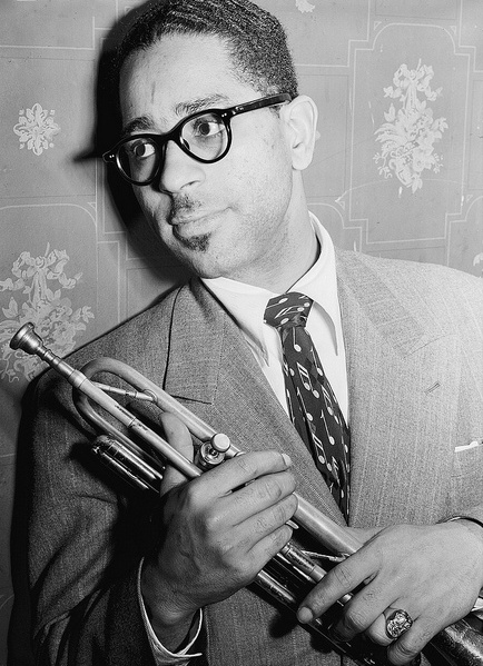 Portrait of Dizzy Gillespie in 1946