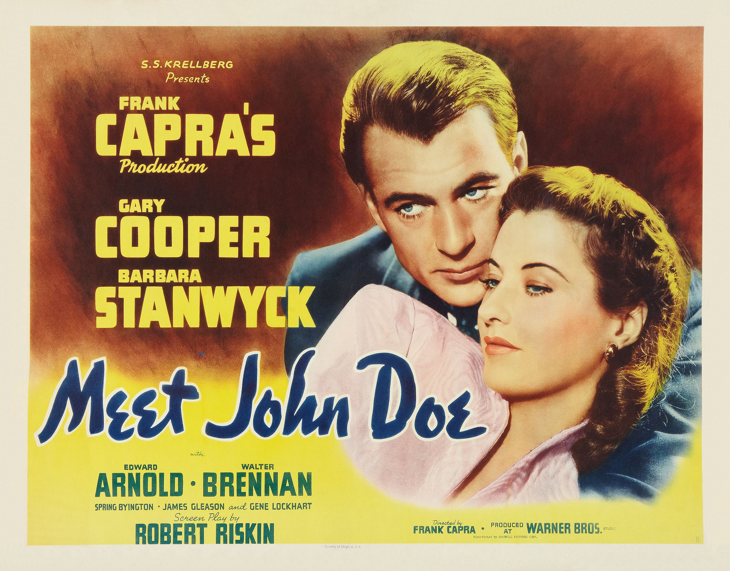 Image result for meet john doe 1941