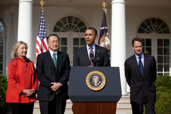 President Obama announces Kim as the new president of The World Bank in 2012