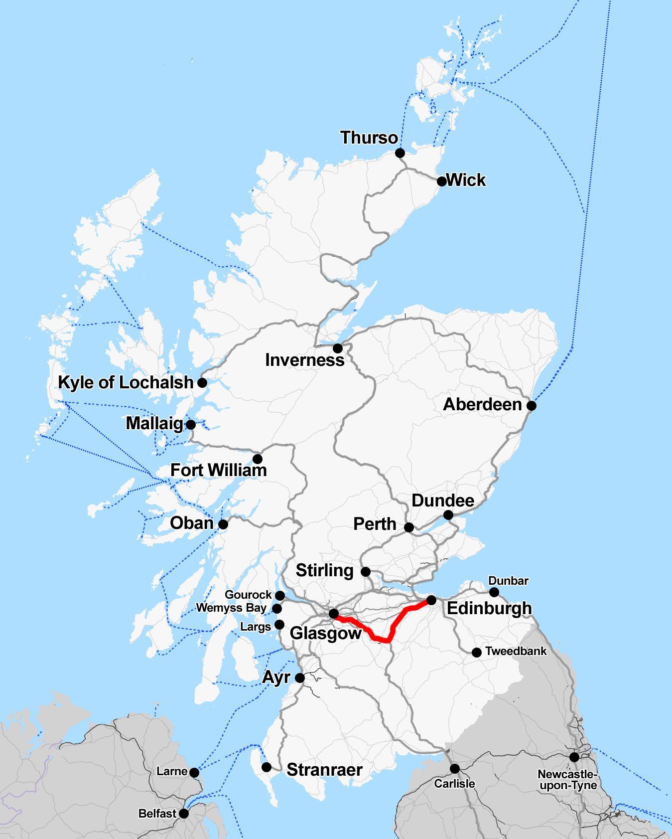 file rail map scotland glasgow edinburgh via. Black Bedroom Furniture Sets. Home Design Ideas