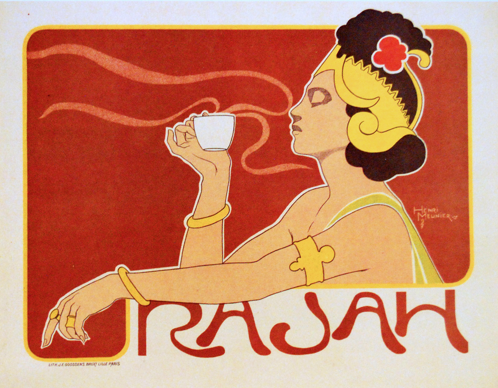 Description rajah coffee ad 1897 henri meunier