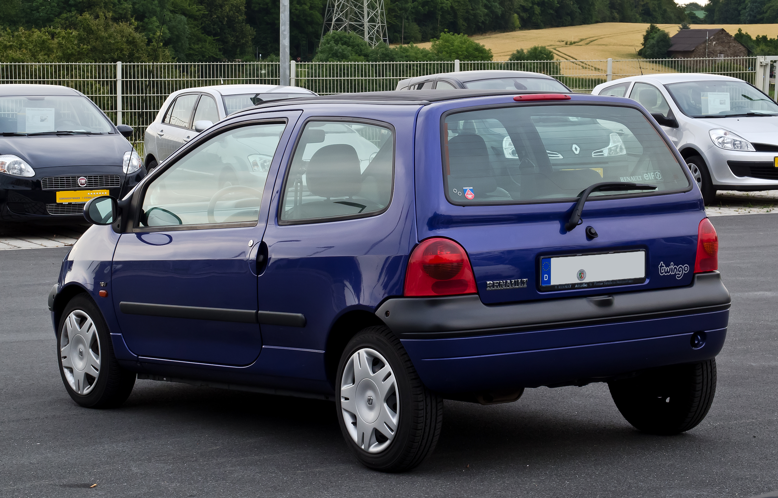 file renault twingo i facelift heckansicht 31 juli 2012 wikipedia. Black Bedroom Furniture Sets. Home Design Ideas