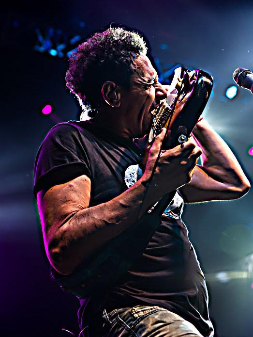 Mollo tocando la guitarra con sus dientes (2016).