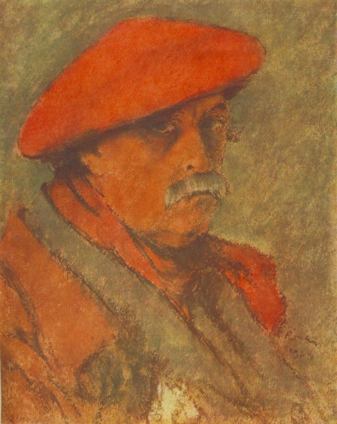 Vörössapkás önarckép (1924)