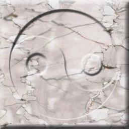 Rose-marble yin yang tile