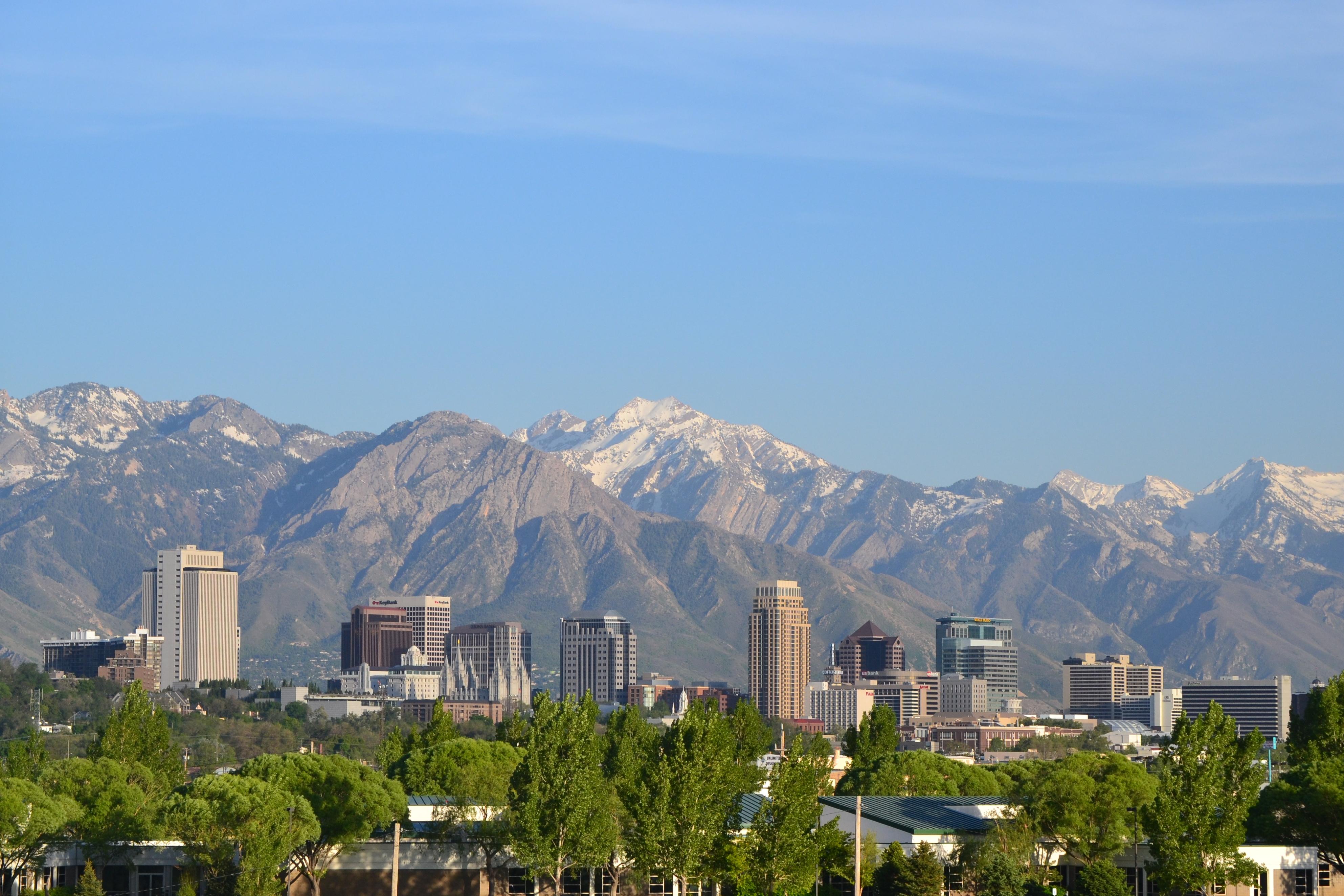 Salt Lake City with an amazing backdrop