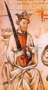 Sancho IV en una miniatura medieval (siglo XIII)