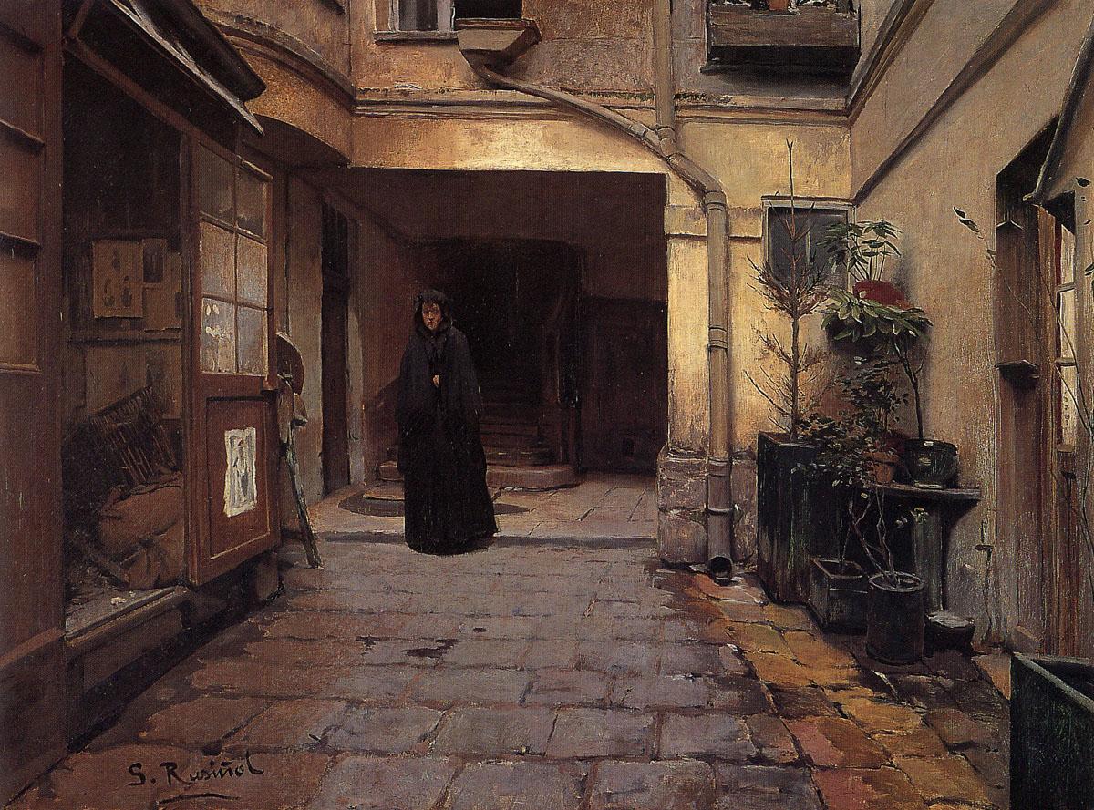 Сантьяго Русиньоль, 1889 - Каса-де-Эмпеньос, холст, масло, 98х131 cm.jpg