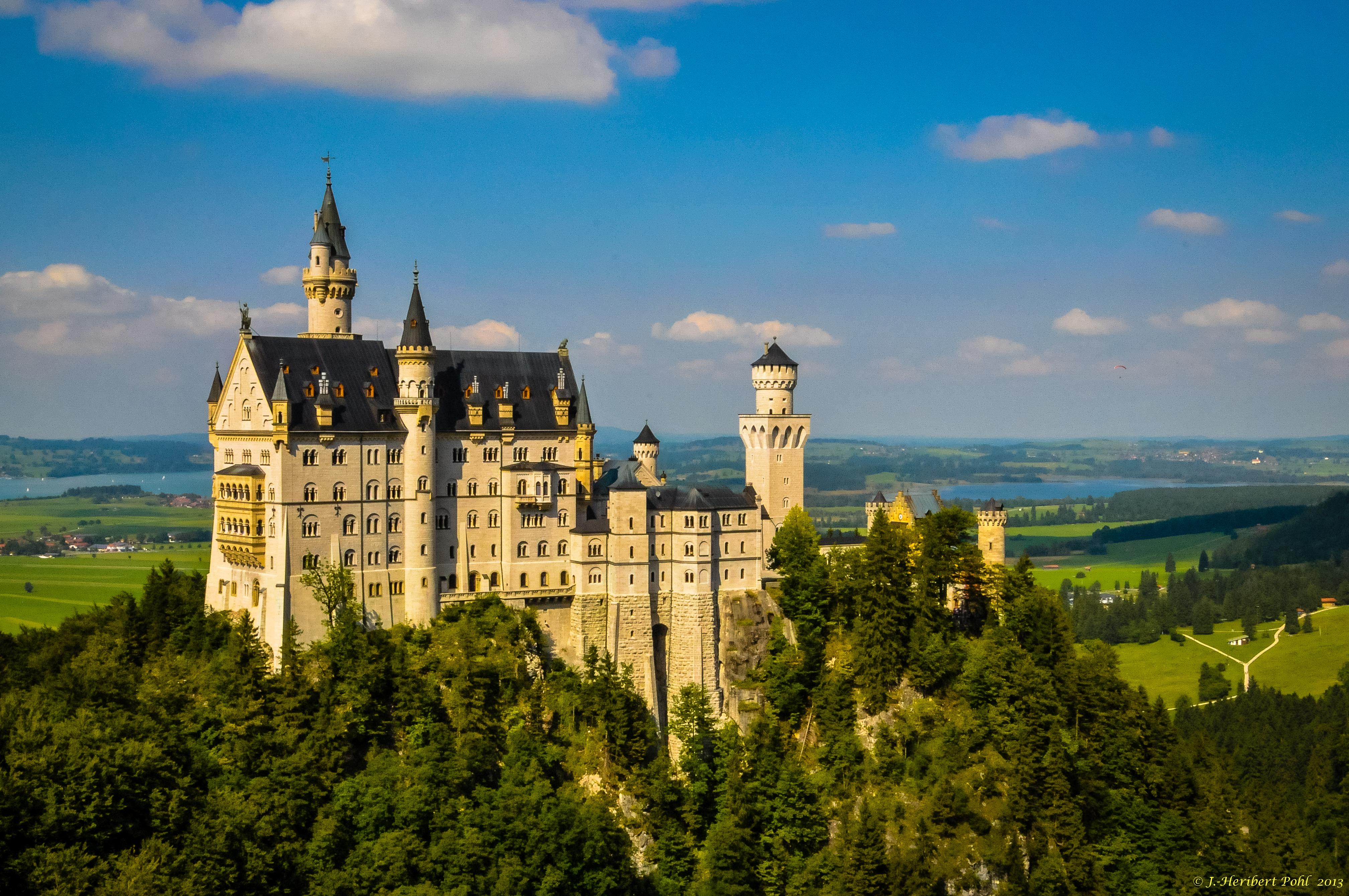 архитектура страны Замок Нойшванштайн Швангау Германия  № 2231570 без смс
