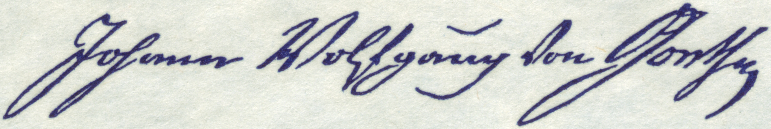 Image result for goethe signature