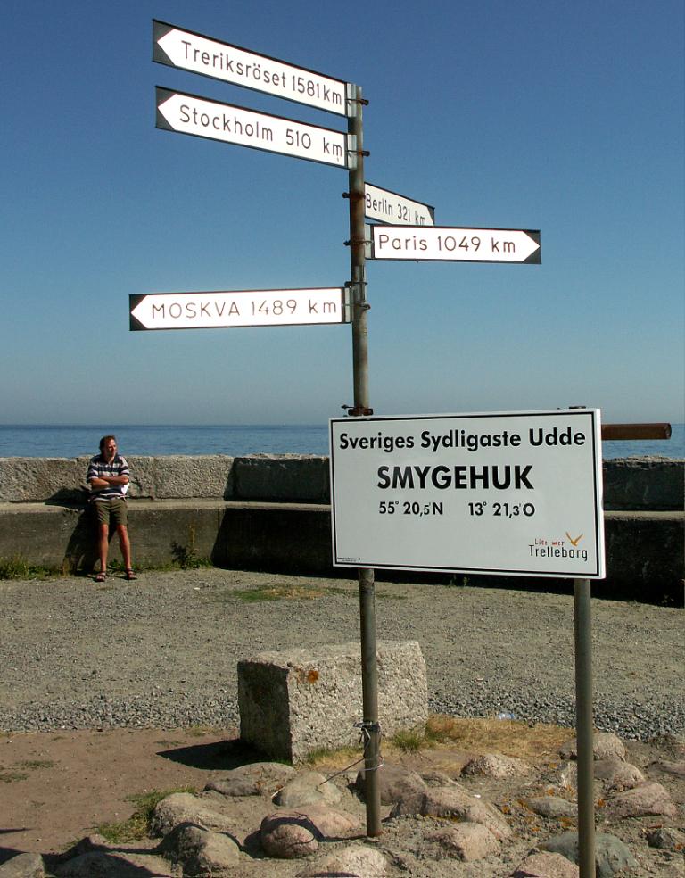 Smygehuk, el punto más meridional de Suecia