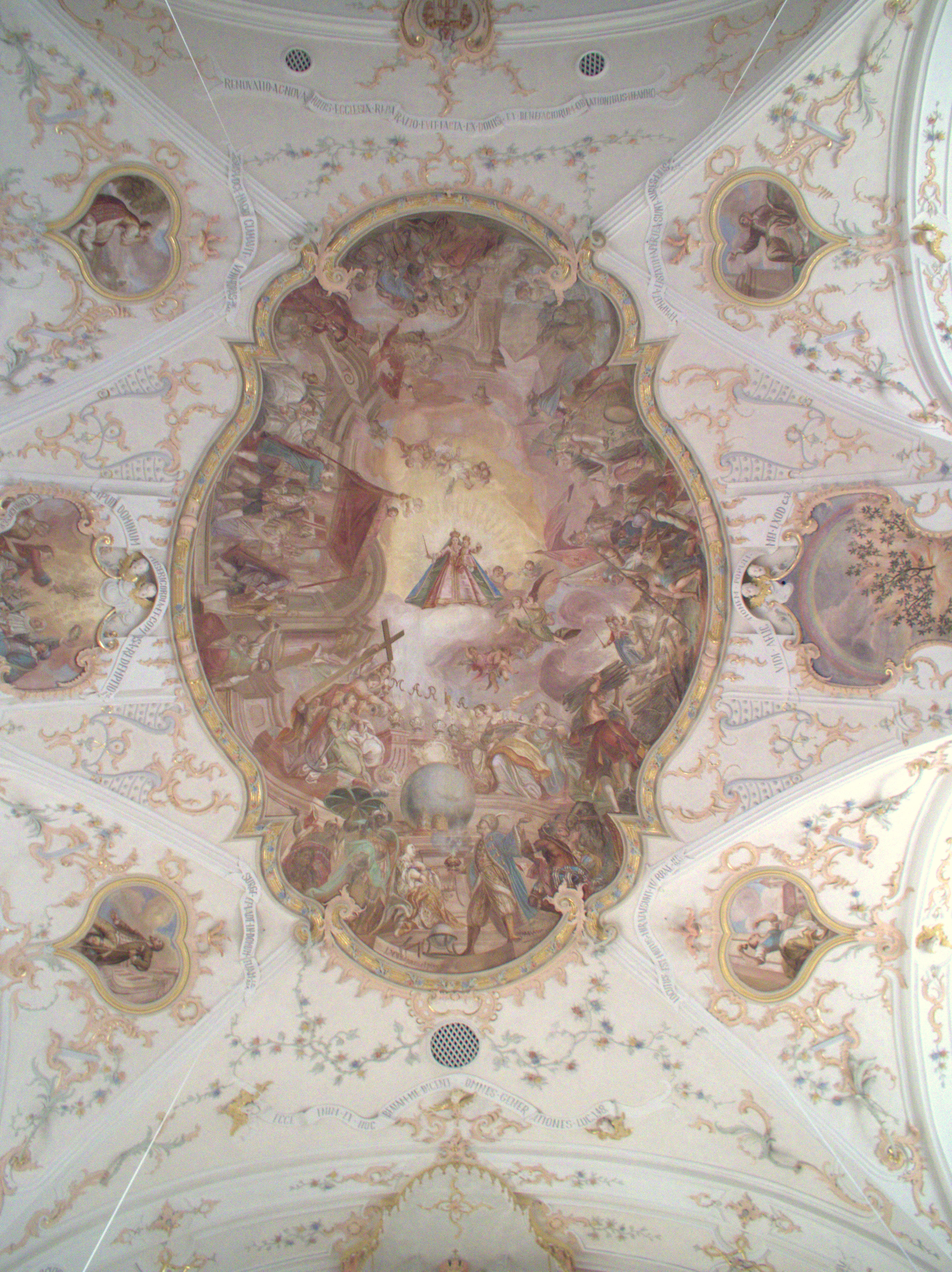 Trautmannshofen Wallfahrtskirche Kirchengewölbe Mariä Namen Hussiten