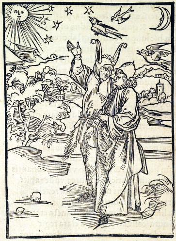 Stargazing Woodcut 1498