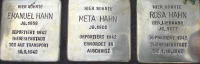 Stolpersteine Königsteiner Straße 48