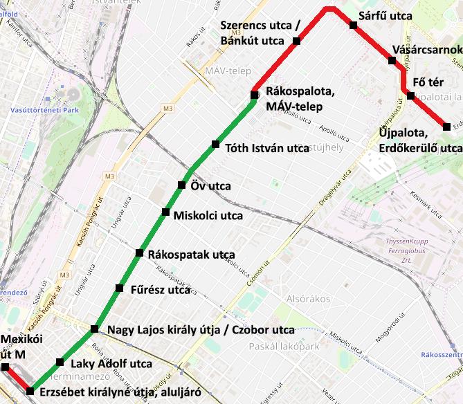 villamos térkép budapest File:Térkép Budapest, 69 es villamos.png   Wikimedia Commons villamos térkép budapest