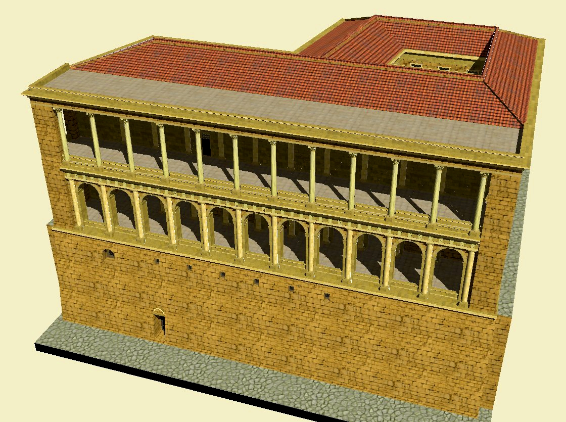 A 3D reconstruction of the Tabularium building