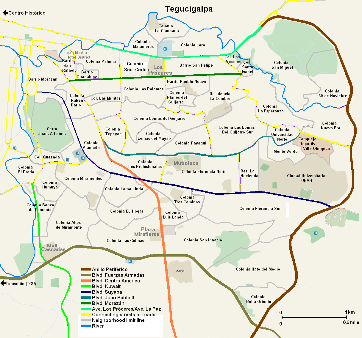 Tegucigalpa Map | Maps