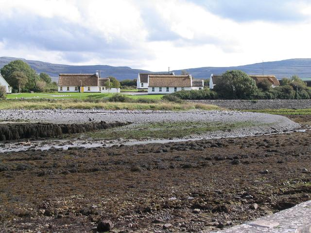 Thatched cottages in Ballyvaghan, Co. Clare - geograph.org.uk - 250617