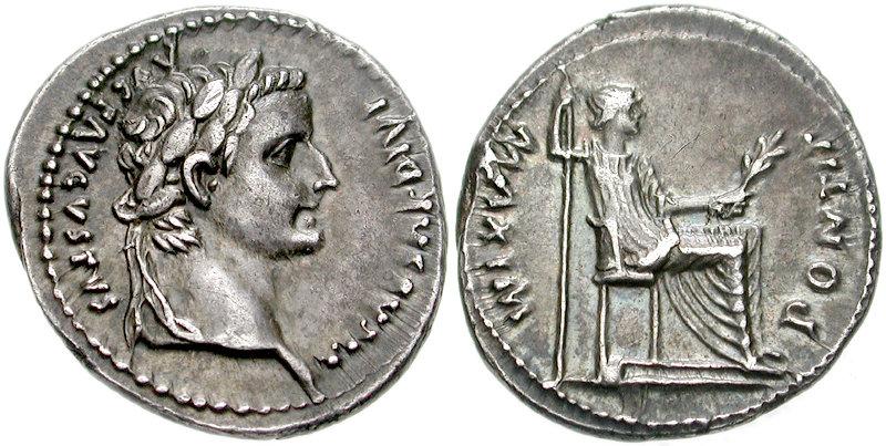 File:Tiberius, Denar, Lyon, CNG.jpg