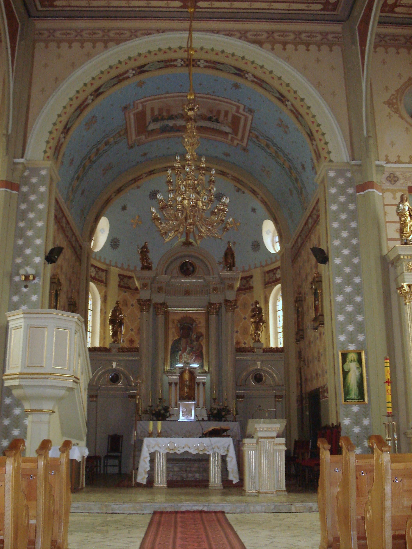 Tokary, wnętrze kościoła św. Andrzeja Apostoła